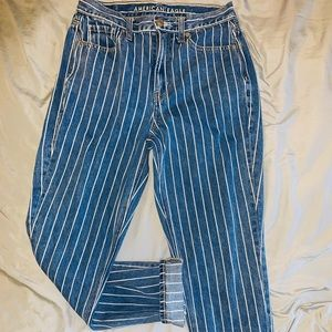 American Eagle Pinstriped Jeans